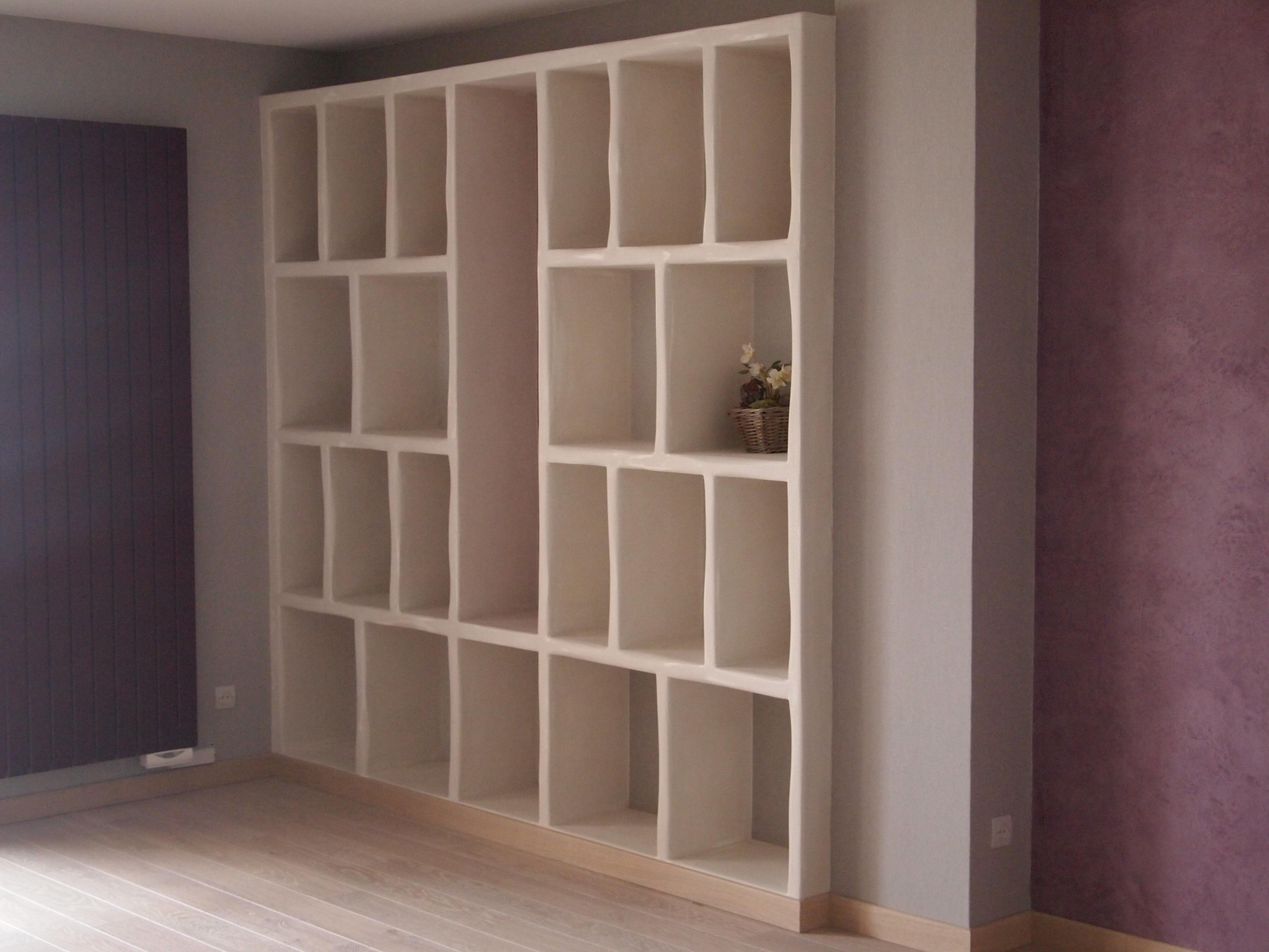 r alisation d une biblioth que sur mesure le blog de l 39 entreprise de peinture et d coration. Black Bedroom Furniture Sets. Home Design Ideas